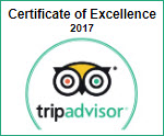 TripAdvisor Excellence Certificate 2017